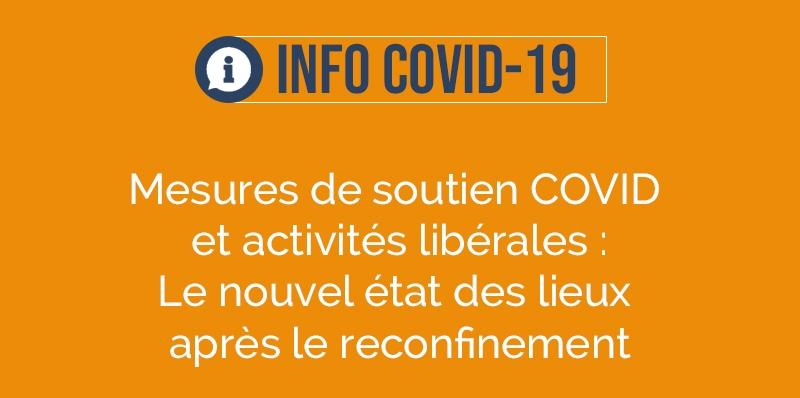Mesures de soutien COVID et activités libérales