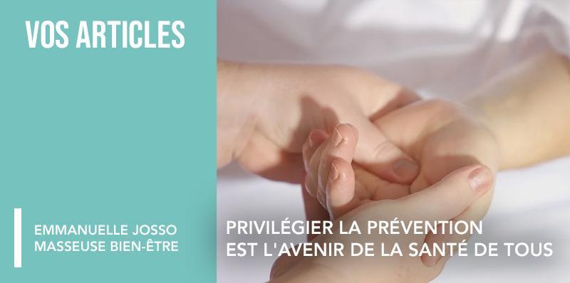 Privilégier la prévention est l'avenir de la santé de tous