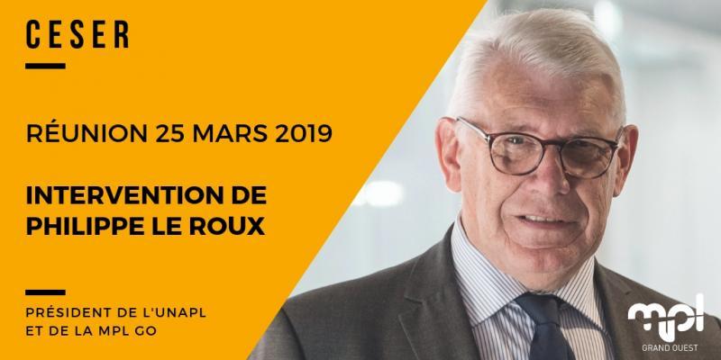 La MPL GO présente au CESER le 25 mars 2019