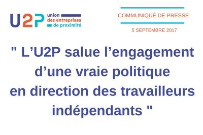 U2P salue l'engagement du gouvernement